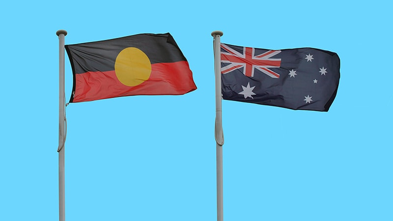 aboriginal and australian flags